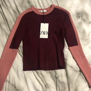 Zara long sleeve sweater type material!
